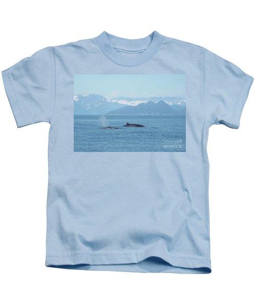 Alaska Finback Whales Kids T-Shirt