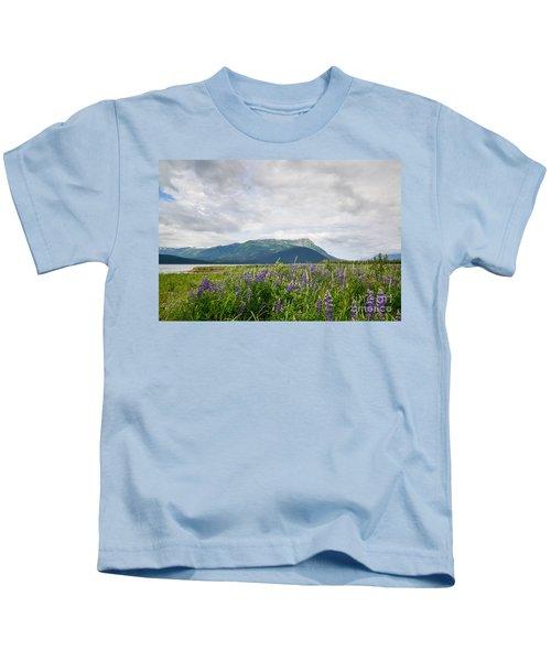 Alaskan Wildflowers Kids T-Shirt