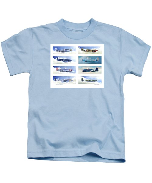 Allied Fighters Of The Second World War Kids T-Shirt