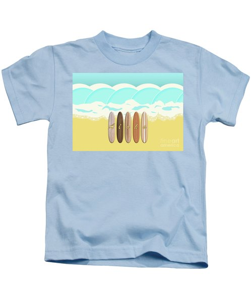 Aloha Surf Wave Beach Kids T-Shirt
