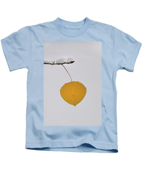 Alone In The Snow Kids T-Shirt