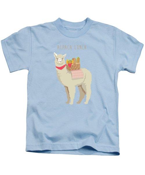 Alpaca Lunch Kids T-Shirt by Little Bunny Sunshine