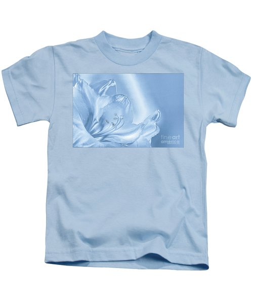 Amaryllis Lily Monotone Fancy Kids T-Shirt