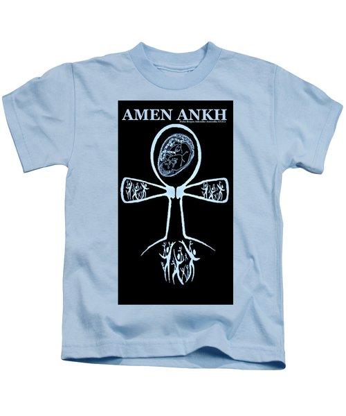Amen Ankh Indigo Kids T-Shirt