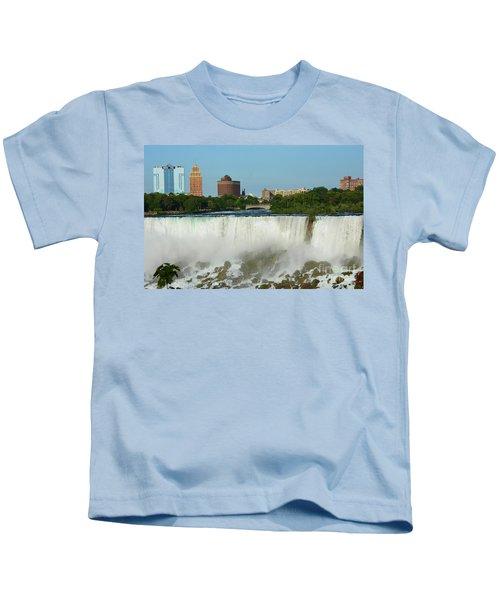 American Falls With Bridal Veil Kids T-Shirt
