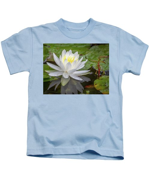 American White Water Lily Kids T-Shirt