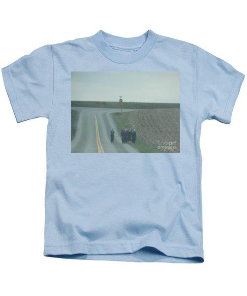 An Evening Stroll Kids T-Shirt