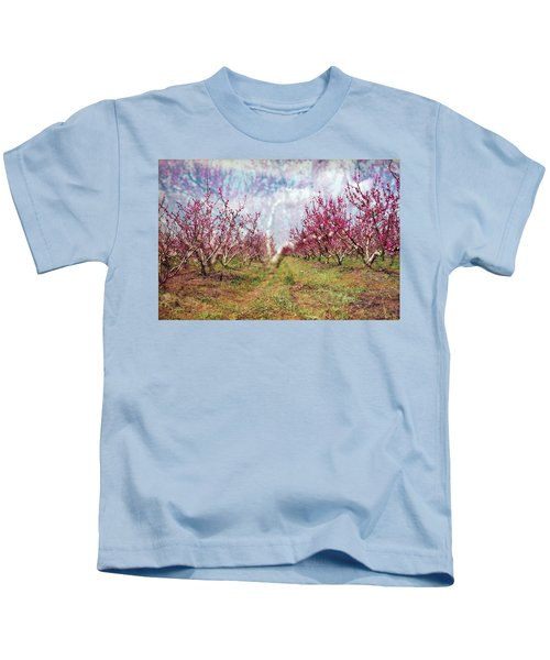 An Orchard In Blossom In The Golan Heights Kids T-Shirt