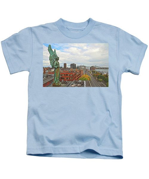Angel Of Old Montreal Kids T-Shirt
