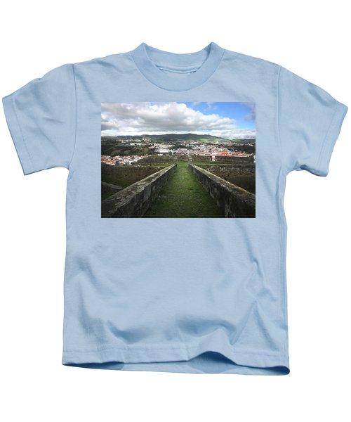 Angra Do Heroismo From The Fortress Of Sao Joao Baptista Kids T-Shirt