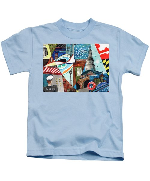 Annapolis Dock Dine Assemble Kids T-Shirt