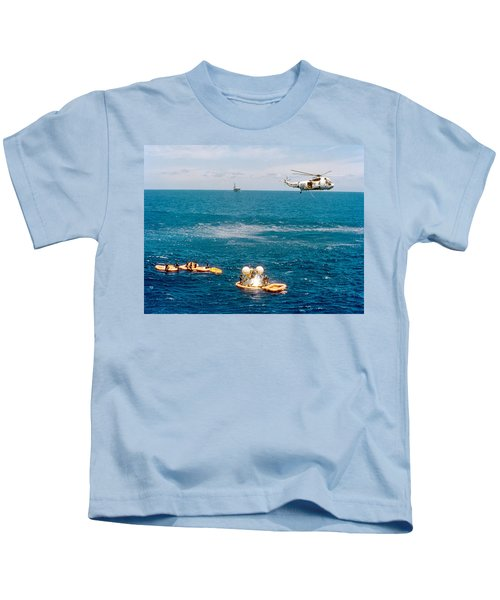 Apollo Command Module Splashdown Kids T-Shirt