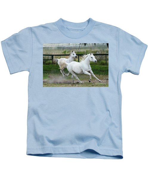 Arabian Horses Running Kids T-Shirt