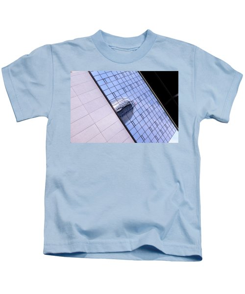 Architecture Photo On Its Side With Windows And Cement In Grand Rapids Michigan Kids T-Shirt