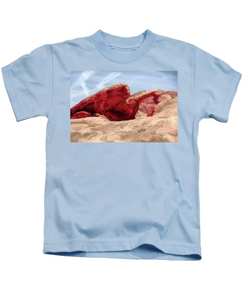 Artistic Natural Arch Valley Of Fire  Kids T-Shirt