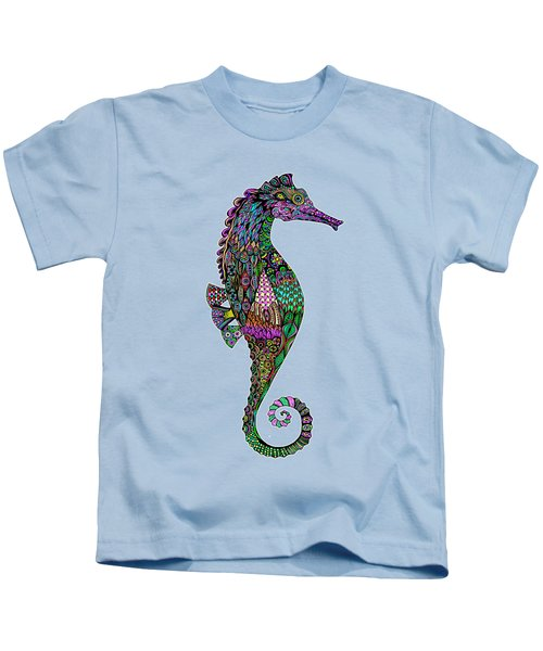 Electric Lady Seahorse  Kids T-Shirt