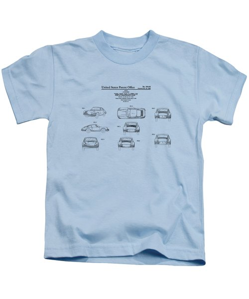 Porsche 911 Patent Kids T-Shirt by Mark Rogan