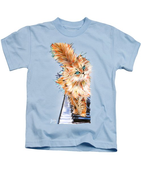 Cat Orange Kids T-Shirt
