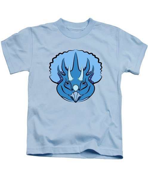 Triceratops Graphic Blue Kids T-Shirt