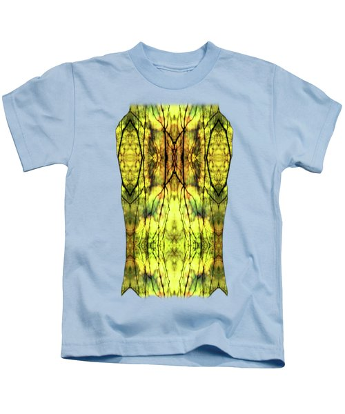 Abstract Yellow Trees Kids T-Shirt