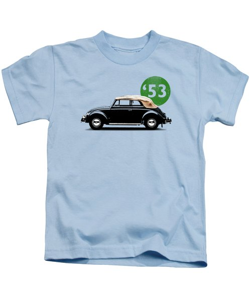Beetle 53 Kids T-Shirt by Mark Rogan