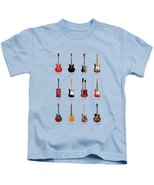 Guitar Icons No1 Kids T-Shirt by Mark Rogan