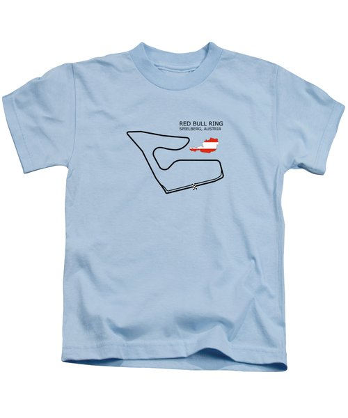 The Red Bull Ring Kids T-Shirt by Mark Rogan