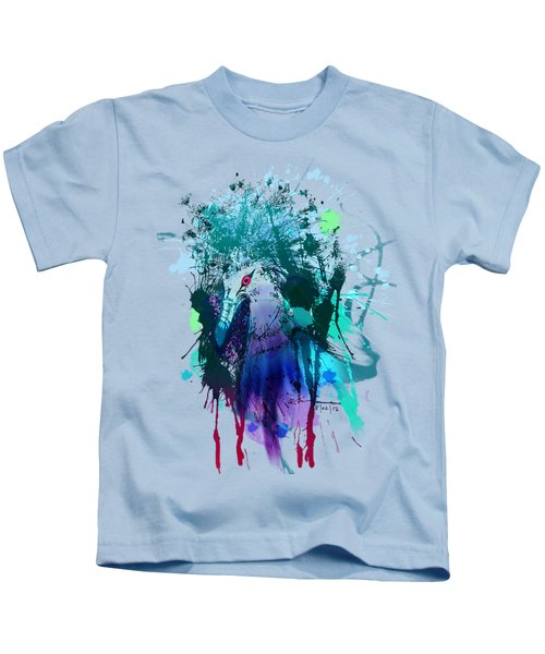 Victoria Crowned Pigeon Kids T-Shirt by Clinton Caleb