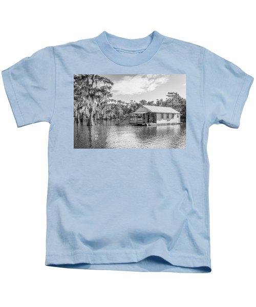 Atchafalaya Basin Fishing Camp Kids T-Shirt