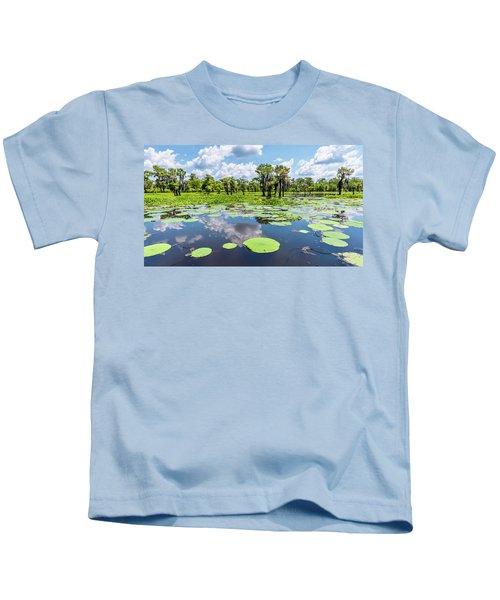 Atchaflaya Basin Reflection Pool Kids T-Shirt