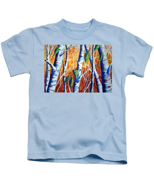 Autumn Birch Kids T-Shirt