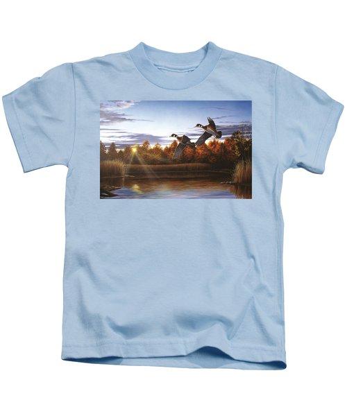 Autumn Home - Wood Ducks Kids T-Shirt