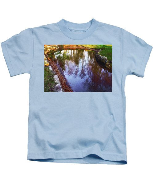 Autumn Reflection Pond Kids T-Shirt