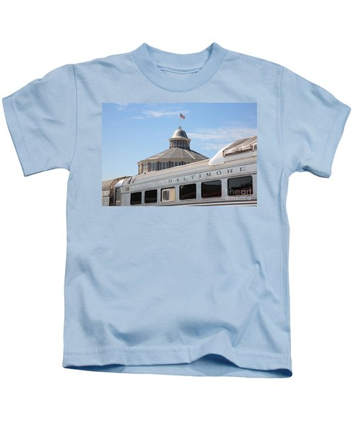 B And O Railroad Museum In Baltimore Maryland Kids T-Shirt