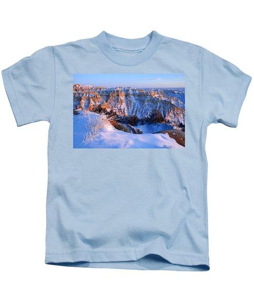 Badlands At Sunset Kids T-Shirt
