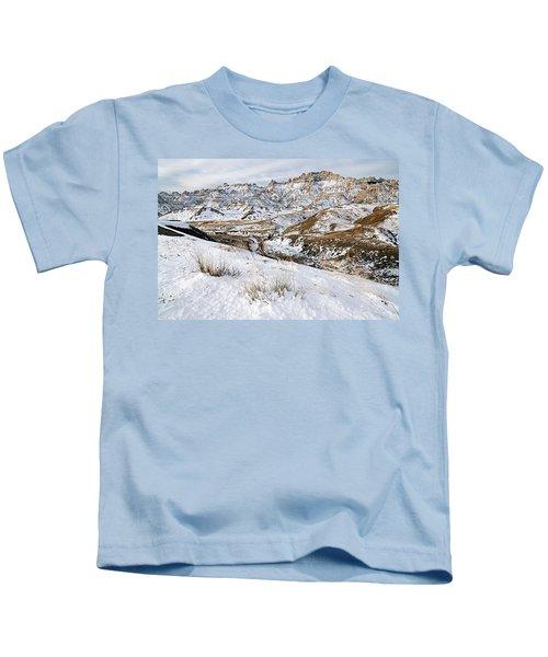 Badlands In Snow Kids T-Shirt