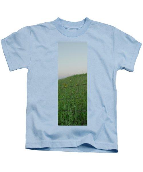 Barb Wire Prairie Kids T-Shirt