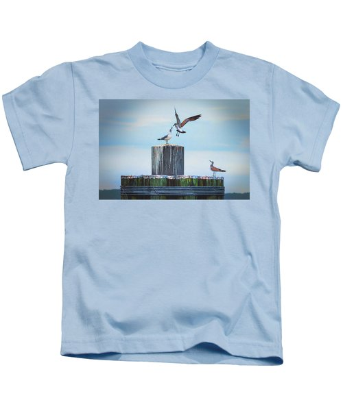 Battle Of The Gulls Kids T-Shirt