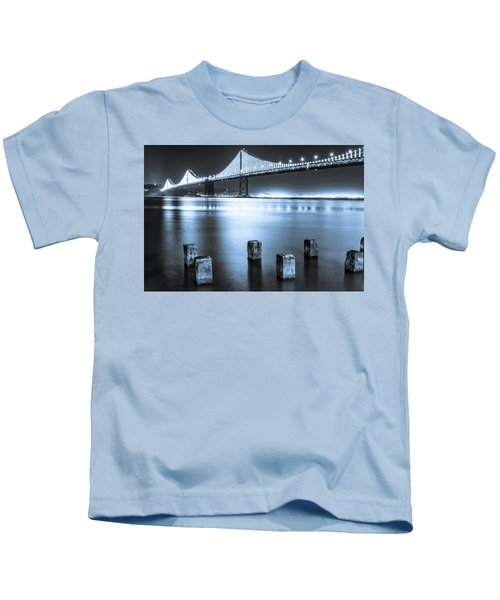 Bay Bridge 1 In Blue Kids T-Shirt