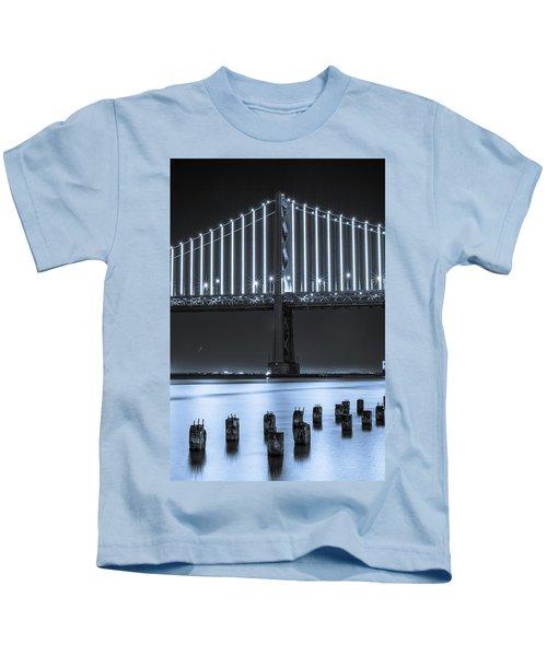 Bay Bridge 2 In Blue Kids T-Shirt