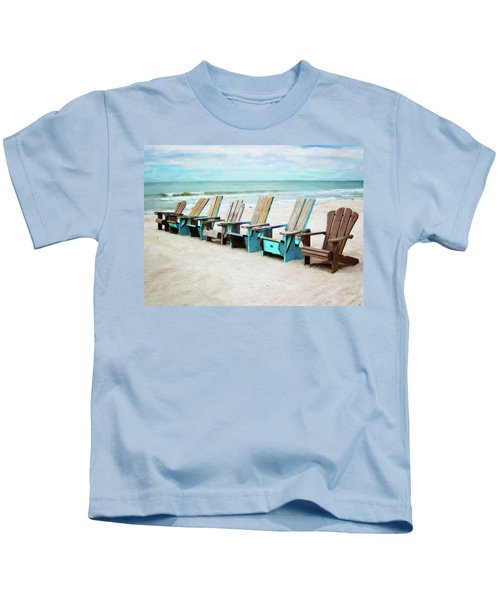 Beach Chairs Kids T-Shirt