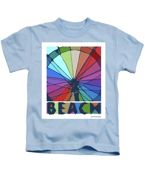 Beach Design By John Foster Dyess Kids T-Shirt