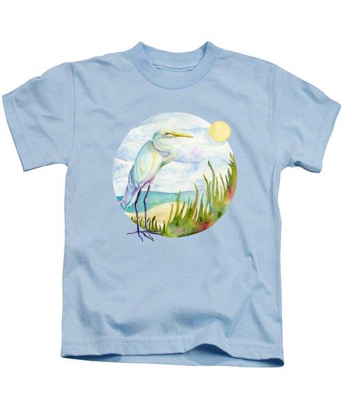 Beach Heron Kids T-Shirt