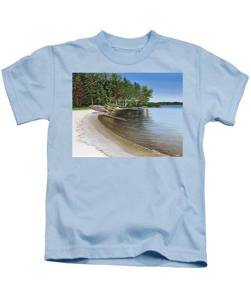 Beach In Muskoka Kids T-Shirt