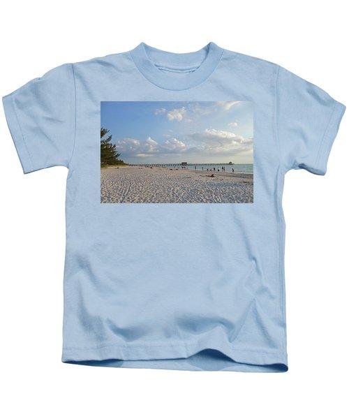 Beautiful Day On Naples Beach Naples Florida Kids T-Shirt