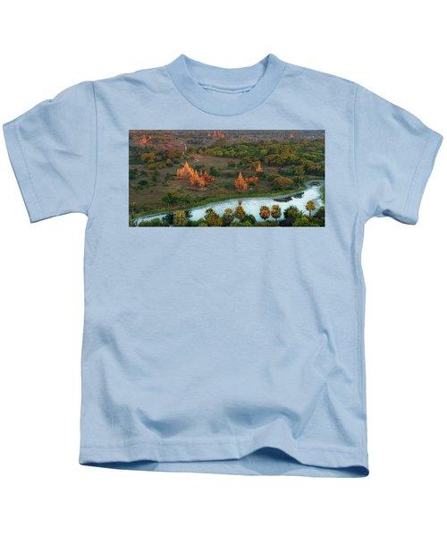 Beautiful Sunrise In Bagan Kids T-Shirt