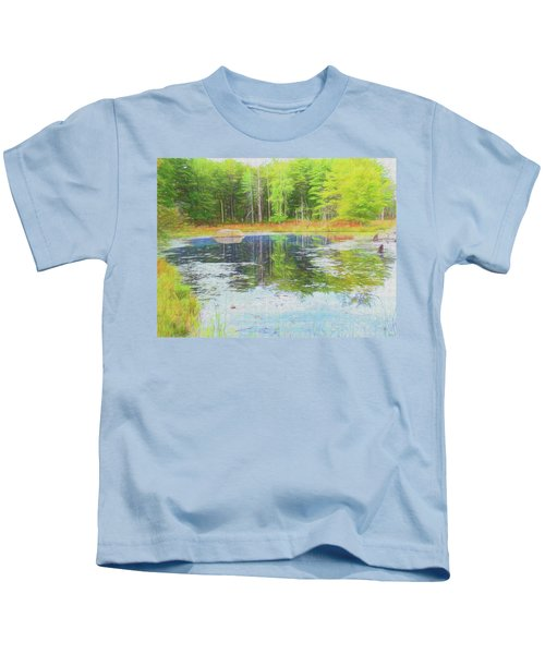Beaver Pond Reflections Kids T-Shirt