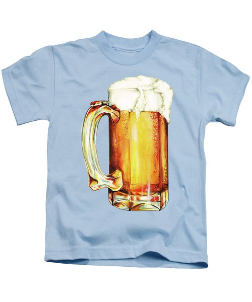 Beer Pattern Kids T-Shirt by Kelly Gilleran