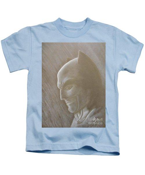 Ben As Batman Kids T-Shirt by Josetta Castner