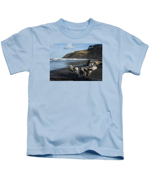 Benson Beach And North Head Kids T-Shirt